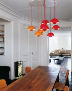 lampade rosse e arancioni