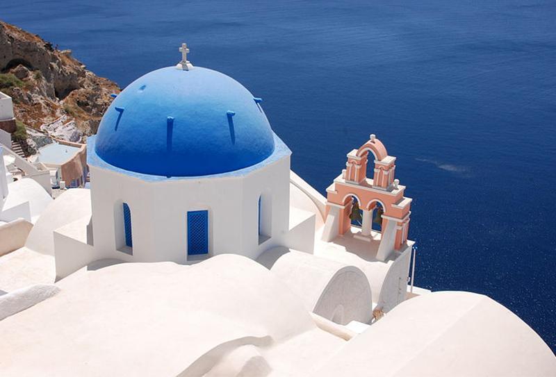 Santorini-Cupola Blu
