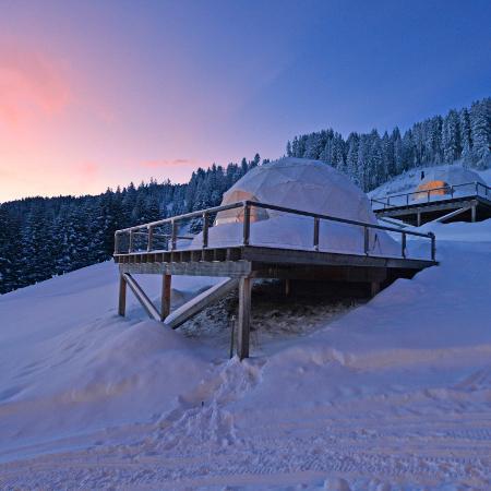 Hotel Whitepod: un rifugio di lusso nel cuore delle Alpi