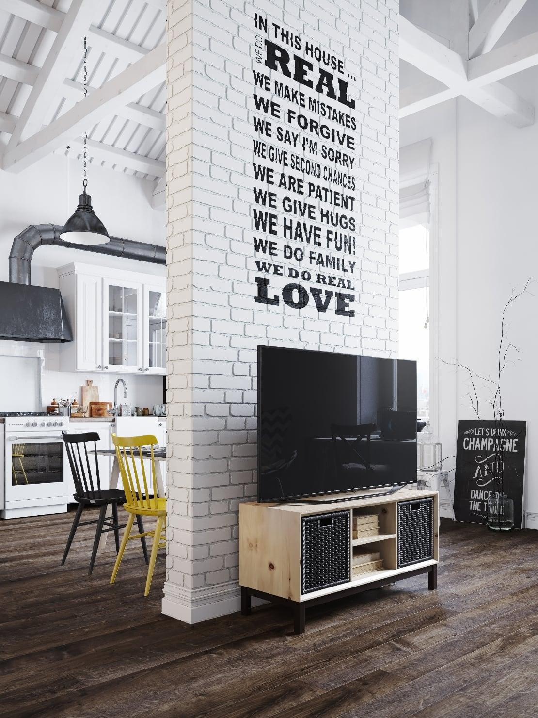 loft-nordico-praga-mensaje-pared
