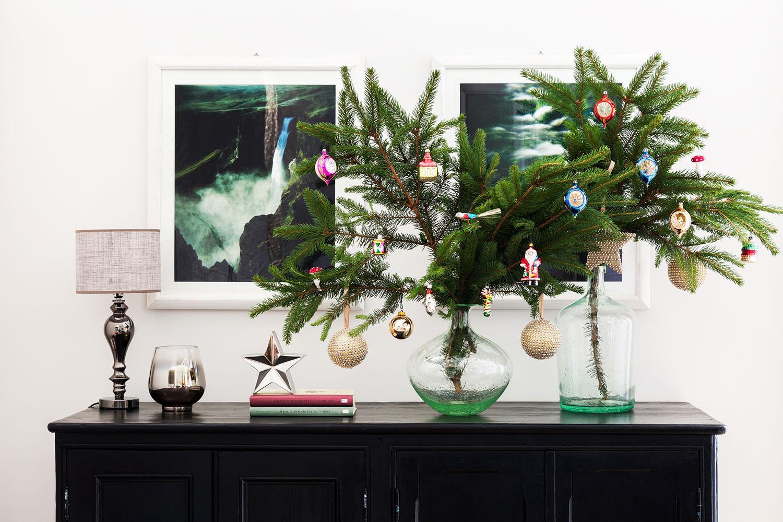 Palline Di Natale Con Rametti natale in piccoli spazi - decorare small size | westwing