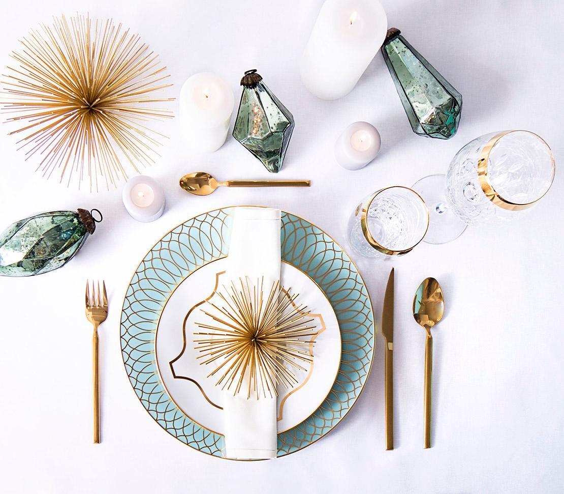 świąteczny stół w stylu glamour