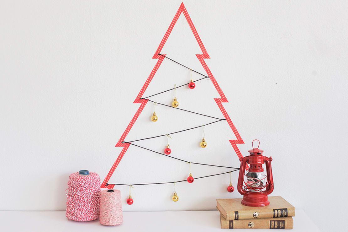 świąteczne dekoracje z taśmy washi
