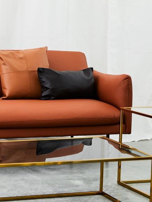 Leren Bank Oranje.Eenvoudig De Cognac Kleur Combineren In Je Interieur Westwing