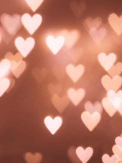 Lichtgevende hartjes