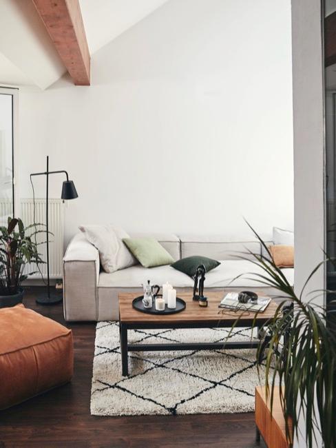 Wohnzimmer in industrial Skandi Look