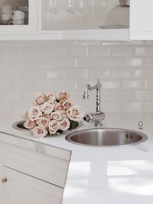 Toffee Roses im Spülbecken