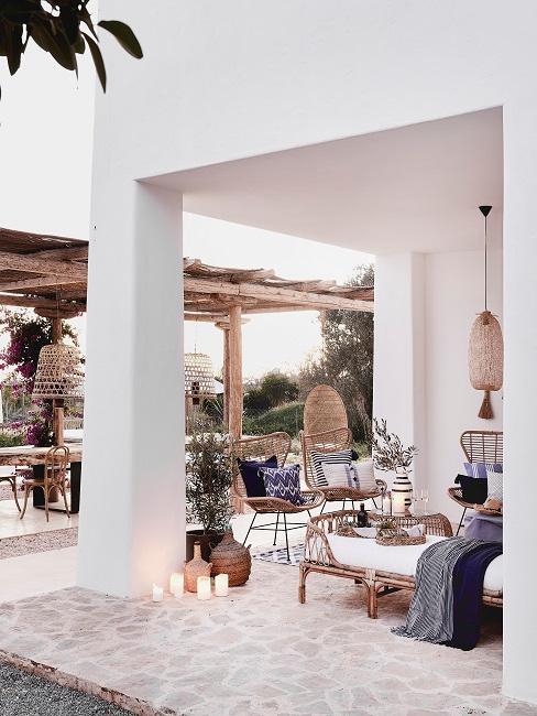 Schöne Terrasse im Ibiza Style