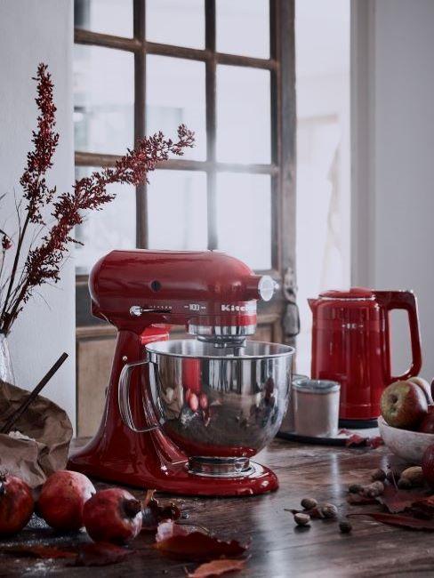 robot da cucina kitchen aid rosso