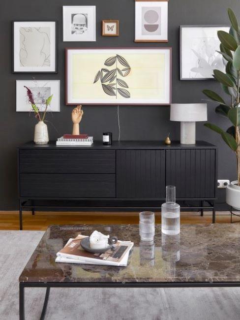 pareti colorate soggiorno