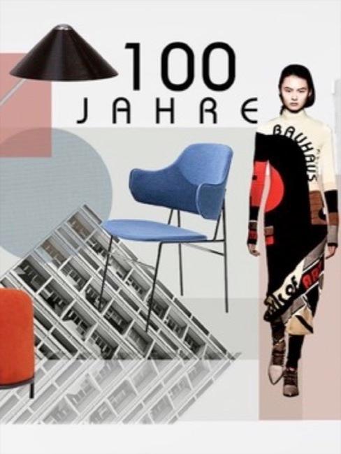 Een collage van elementen van Bauhaus