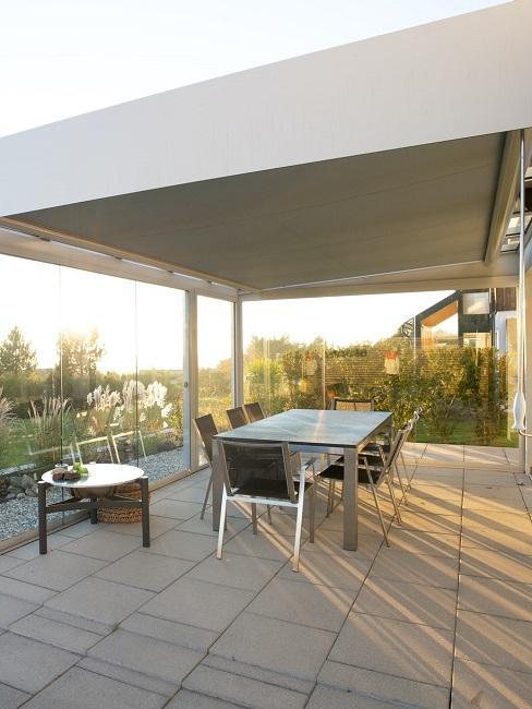 Selbst gebaute Terrasse