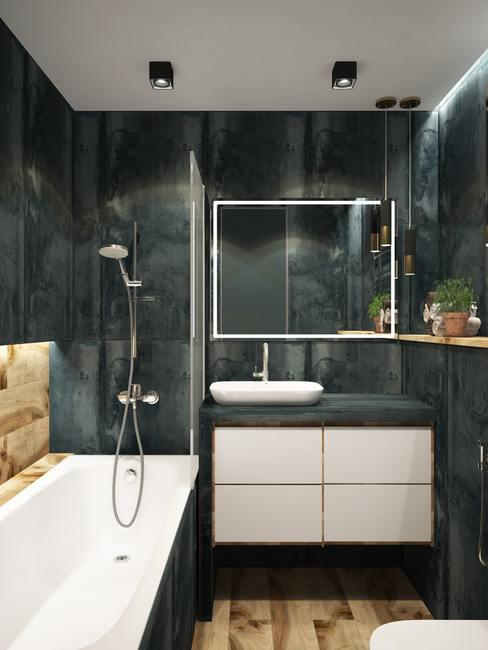 Cuarto de baño moderno negro