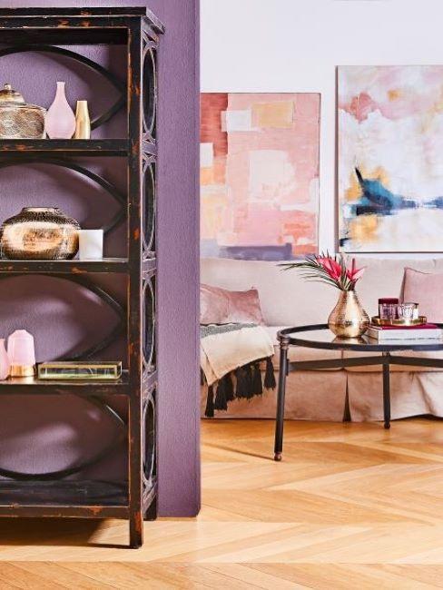 mobile soggiorno di colore viola