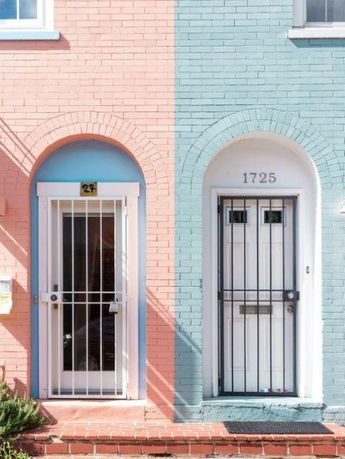 colori facciata esterna rosa azzurro