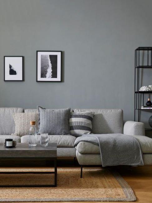 pareti colorate grigio scuro