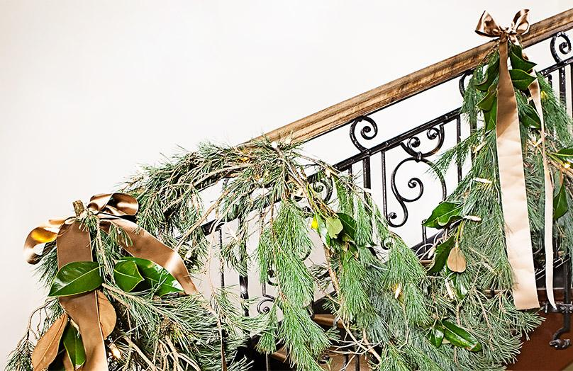 Weihnachtliche Deko für's Treppenhaus