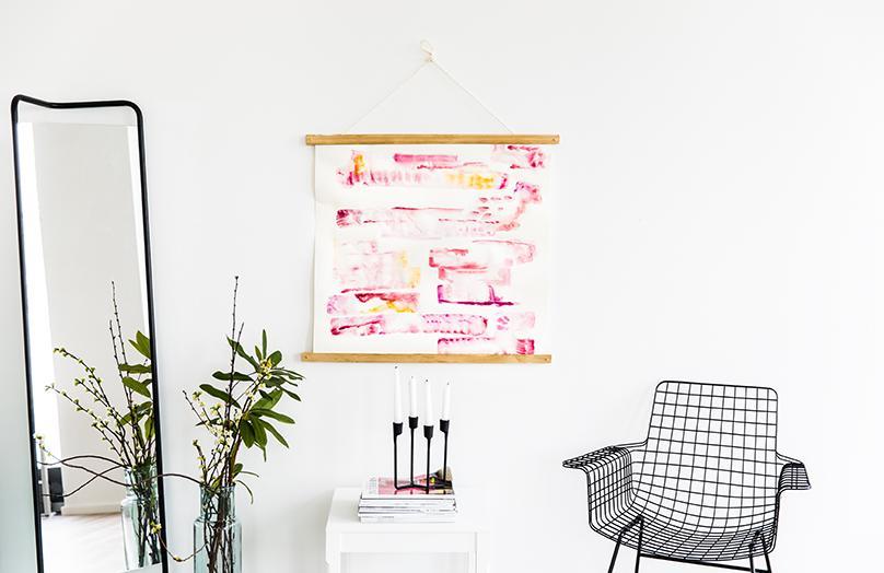 Kunst mit Wasserfarben: So stylen Sie Ihre Wände