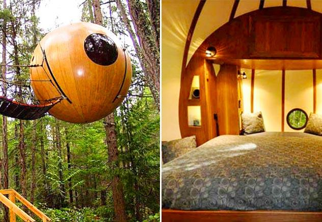 casa sull'albero sfera