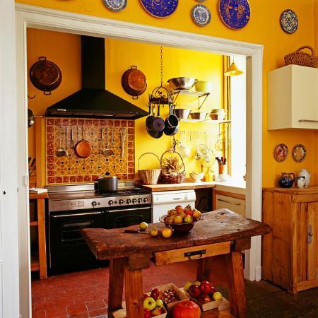 Recept voor een keuken in Toscaanse stijl