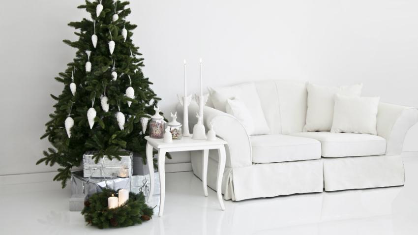 Christbaumkugeln Weiß
