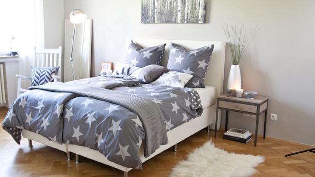 Schlafzimmer Deko mit Sternen