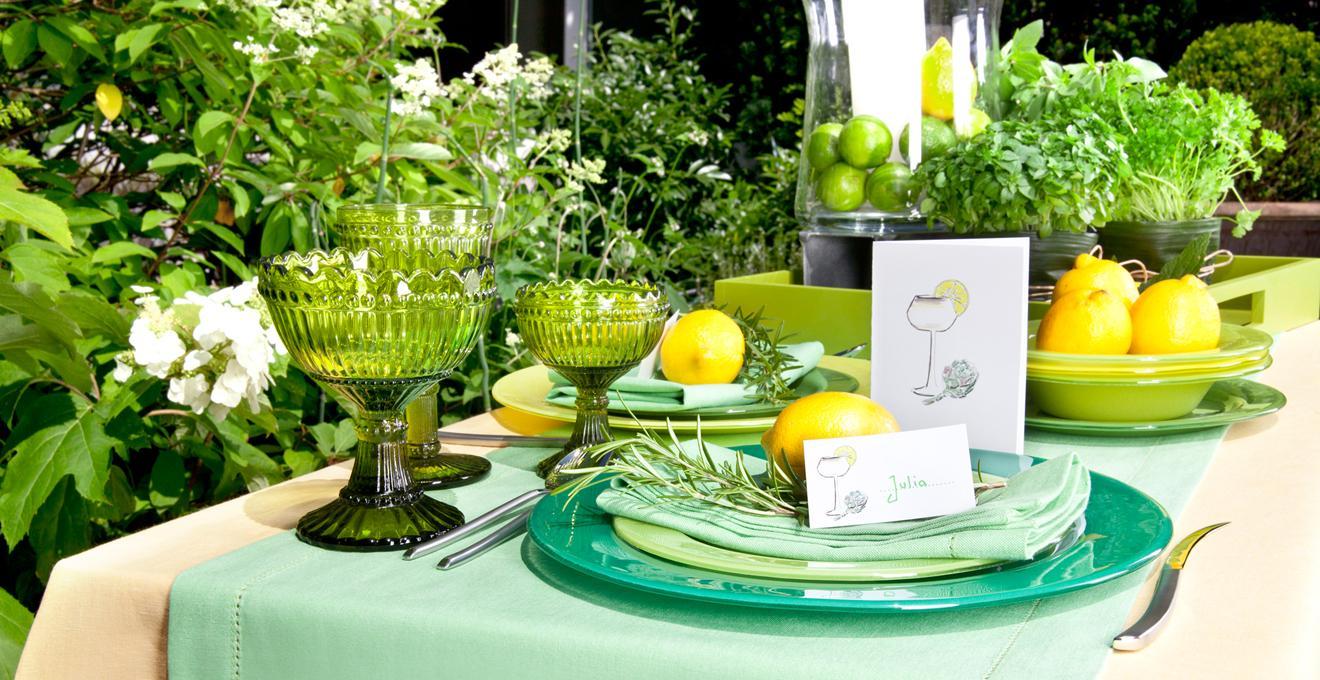 Tischdeko grün Hochzeit