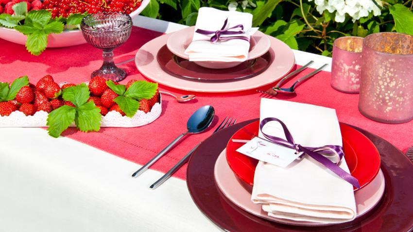 Mesas de boda en el jardín