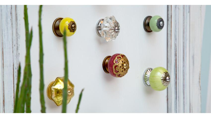 Tiradores de cristal