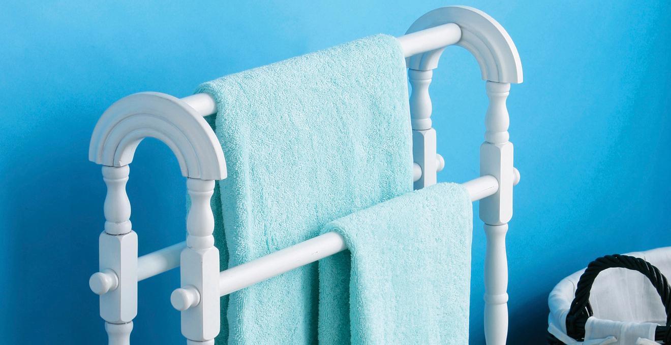 Porte-serviette double