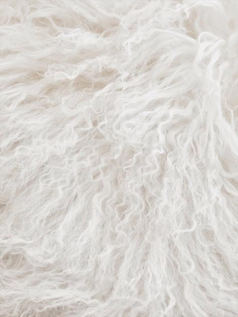 Gros plan de fourrure synthétique blanche