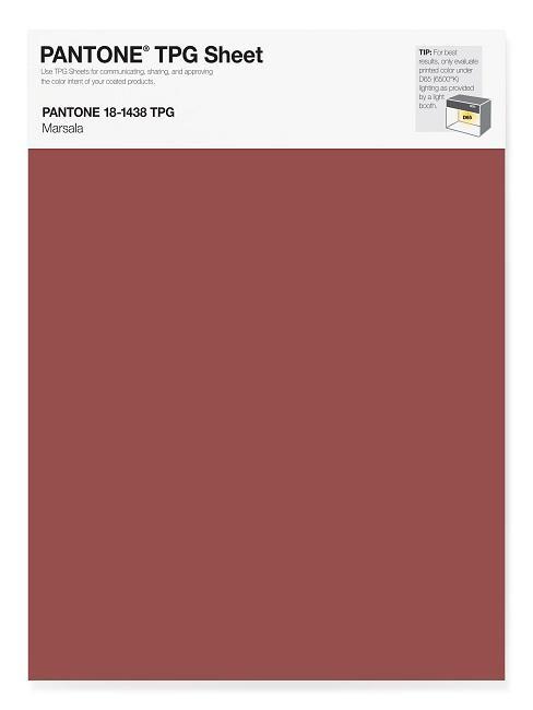 Pantone Trendfarben Marsala