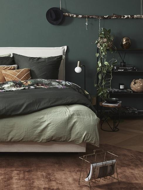 Zimmer Design Ideen grünes Schlafzimmer