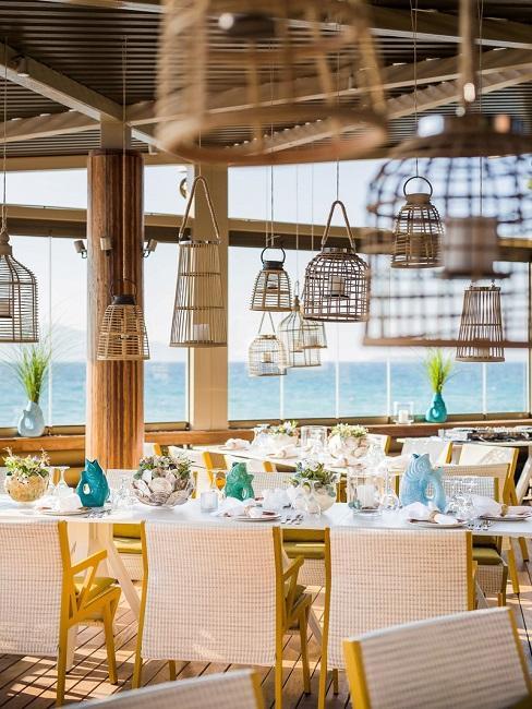 Tischdeko Hochzeit mediterran maritim Organic