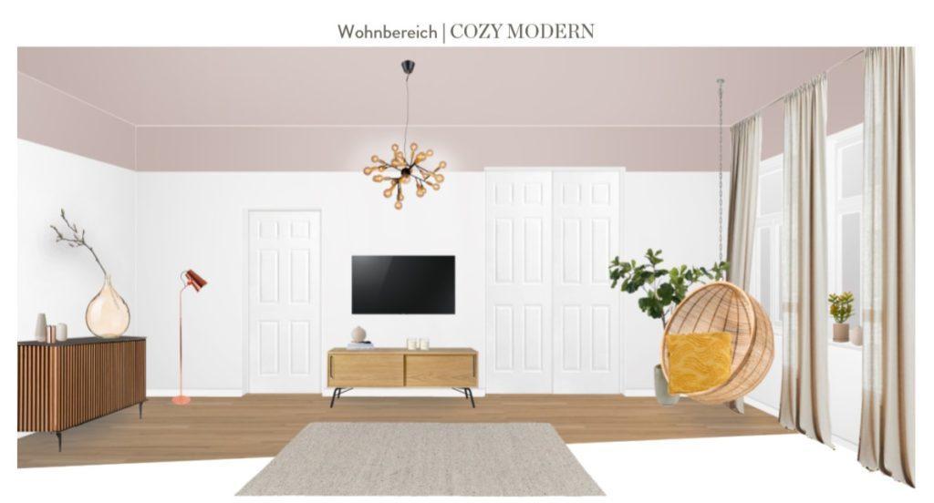 Wohnzimmer neu gestalten Vorschlag 1 andere Raumseite