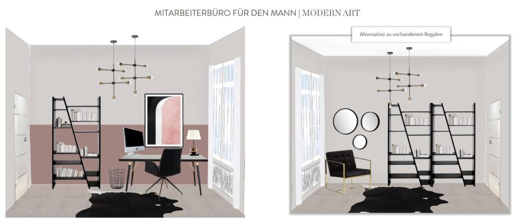 Büro einrichten Modern Art Mann