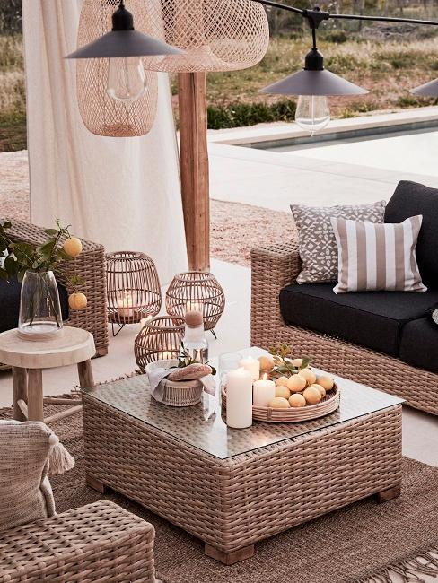 Outdoor Wohnzimmer Lounge Deko