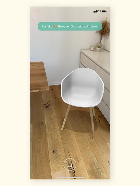 Augmented Reality Stuhl bewegen
