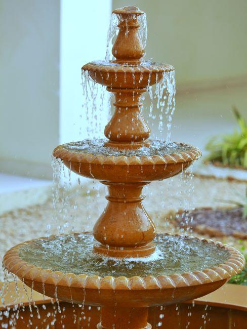 Fontaine dans un intérieur style marocain