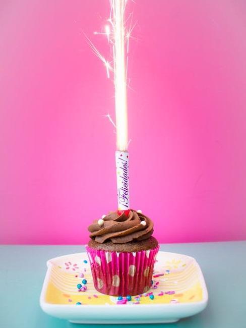 Cupcake con candelina