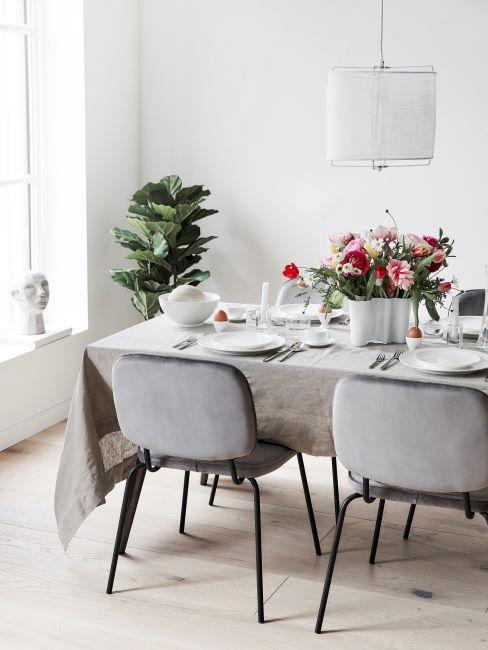grigio perla sala da pranzo