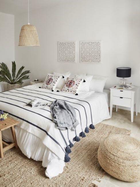 colori pareti camera da letto bianco