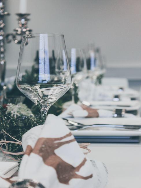 Kerst tafel met servetten