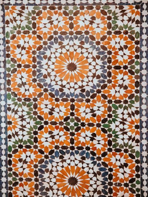 Podłoga w stylu marokańskim z kafelkami
