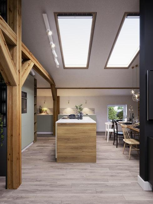 Zdjęcie z bloga Design your home z kuchnia na poddaszu