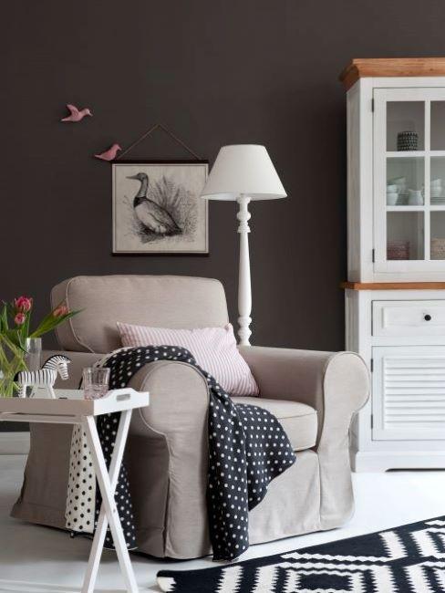 colori pareti soggiorno grigio scuro