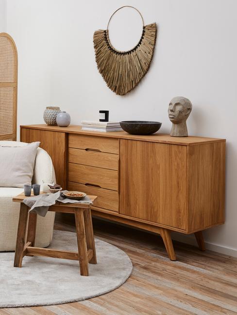 Makrama w salonie w stylu minimal natural