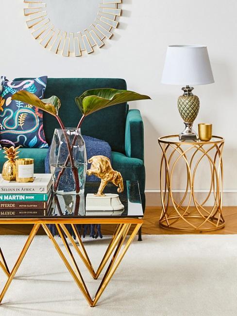 Goldene Vintage Deko im Mid Century Stil