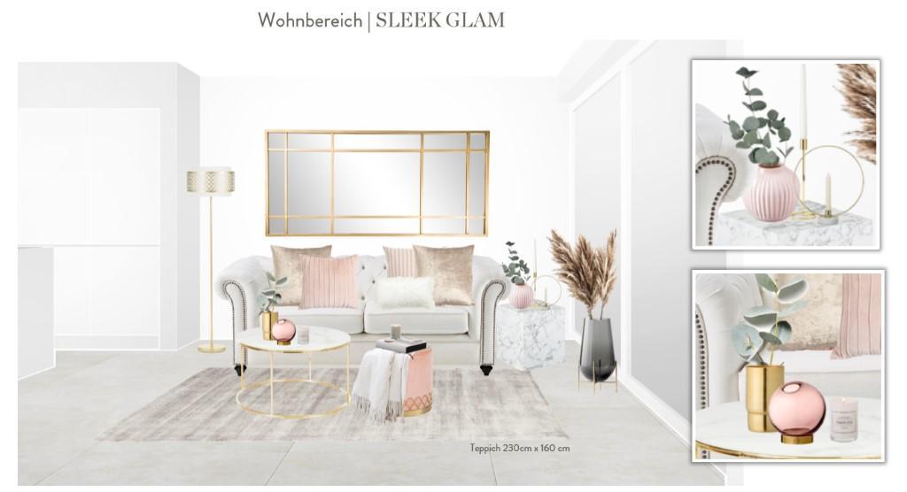 Reihenhaus einrichten Wohnzimmer Sofa Entwurf 1