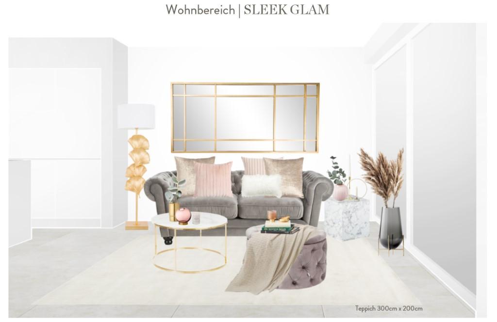 Reihenhaus einrichten Wohnzimmer Sofa Entwurf 2